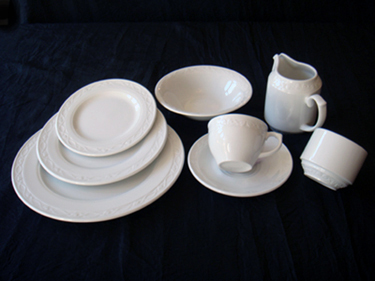 Catering Equipment hire: CHURCHILL CHATEAU CHINA