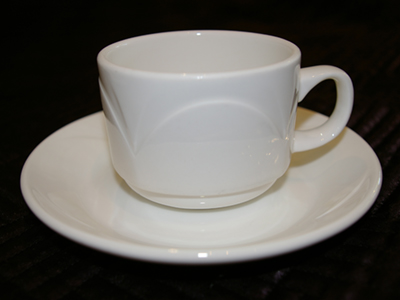 STEELITE BIANCO - CUP AND SAUCER